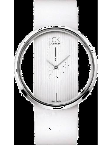 Chic Time   Montre Femme Calvin Klein K9423101 Blanc    Prix : 349,90€