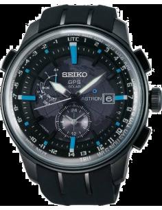 Montre Homme Seiko Astron SAS033 bracelet noir en silicone résistant