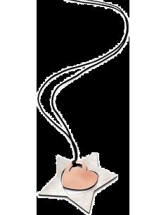 Chic Time | Collier Femme Breil Tribe Me and You TJ0626 Etoile en acier avec coeur rose  | Prix : 17,07€