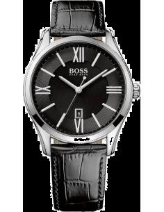 Chic Time | Montre Homme Hugo Boss Ambassador 1513022 bracelet noir en cuir  | Prix : 186,15€
