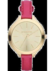 Chic Time   Montre Femme Michael Kors Slim Runway MK2298 Bracelet en cuir rose    Prix : 99,00€