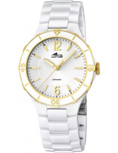 Chic Time | Montre Femme Lotus Ceramic L15931/2 Blanc  | Prix : 199,00 €