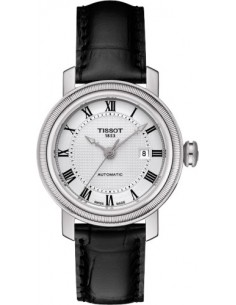 Chic Time | Montre Femme Tissot Bridgeport T0970071603300 Bracelet en cuir noir  | Prix : 558,00€