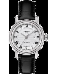 Chic Time   Montre Femme Tissot Bridgeport T0970071603300 Bracelet en cuir noir    Prix : 558,00€