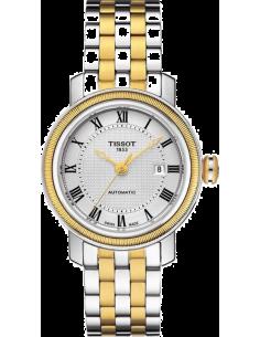 Chic Time | Montre Femme Tissot Bridgeport T0970072203300 Bracelet en acier inoxydable doré et argenté  | Prix : 666,00€