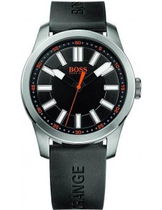 Chic Time | Montre Homme Boss orange 1512936 Bracelet noir en silicone  | Prix : 169,15 €