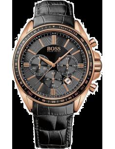 Chic Time | Montre Homme Hugo Boss 1513092 Bracelet noir en cuir  | Prix : 235,95€