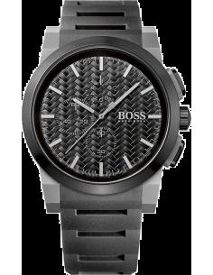 Chic Time | Montre Homme Hugo Boss Neo Chrono 1513089 Bracelet noir en caoutchouc  | Prix : 299,00€