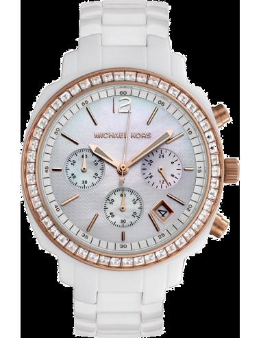 Chic Time | Montre Femme Michael Kors MK5214 Blanc  | Prix : 211,65€