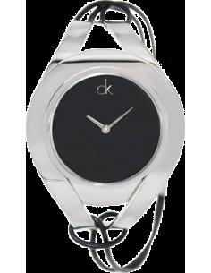 Chic Time | Montre modèle femme - Calvin Klein - Montre Calvin Klein Sophistication K1B33102 bracelet en cuir cordon noir  - ...