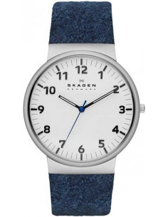 Chic Time | Montre Homme Skagen Ancher SKW6098 Bracelet textile bleu  | Prix : 209,90€