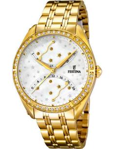 Chic Time   Montre Femme Festina Starlet F16743 1 Acier Doré jaune et  étoiles argentées 960089d82bcf