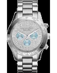 Chic Time | Montre Femme Michael Kors Layton MK6076 Cadran strassé à compteurs bleus clairs  | Prix : 292,50€