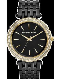 Chic Time | Montre Femme Michael Kors Darci MK3322 Maillons fins en acier noir et lunette dorée  | Prix : 211,65€