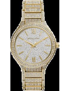 Chic Time | Montre Femme Michael Kors Kerry MK3360 Dorée jaune avec cristaux transparents  | Prix : 361,25€