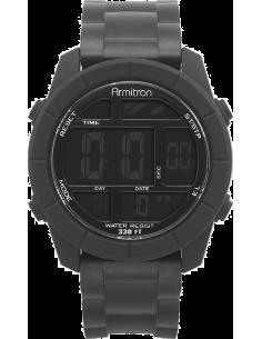 Chic Time | Montre Homme Armitron Chronographe digital 40/8253BLK Bracelet noir en résine  | Prix : 26,53€