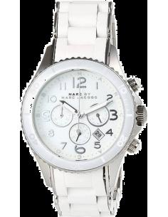 Chic Time | Montre Femme Marc by Marc Jacobs Henry MBM2545 Blanc Bracelet En Résine   | Prix : 200,00€