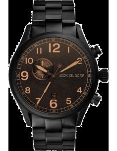 Chic Time | Montre Homme Michael Kors Hangar MK7067 Cadran brun fonction chrono et date  | Prix : 250,00€