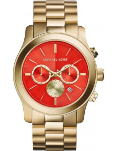 Chic Time | Montre Femme Michael Kors Runway MK5930 Cadran orange finitions dorées  | Prix : 233,75 €