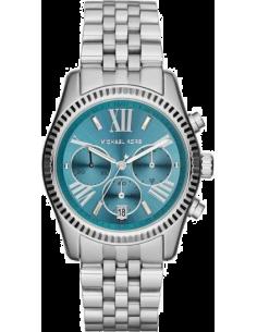 Chic Time | Montre Femme Michael Kors Runway MK5887 Cadran turquoise à index argentés  | Prix : 159,99€