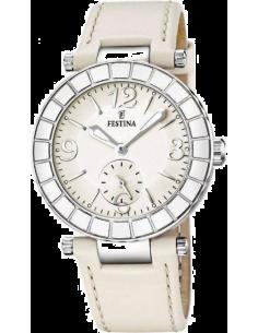 Chic Time   Montre Femme Festina Lady F16619 2 Bracelet blanc en cuir lisse    e25808488725