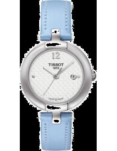 Chic Time | Montre Femme Tissot Pinky T0842101601702 Bracelet en cuir bleu clair  | Prix : 250,00€