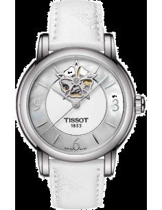 Chic Time | Montre Femme Tissot Lady Heart T0502071711704 Bracelet coloris blanc en cuir  | Prix : 670,00€