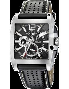 Chic Time   Montre Homme Festina Sport F16363 5 Chrono Bracelet Cuir Noir  perforé   f9c11bd72d1b