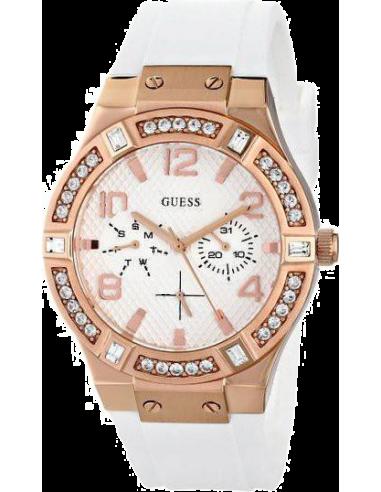 Chic Time   Montre Femme Guess W0426L1 Blanc    Prix : 299,00€
