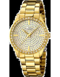 Chic Time | Montre Femme Lotus Trendy L18135/1 Dorée avec cristaux  | Prix : 119,00€