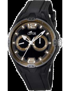 Chic Time | Montre Homme Lotus Sport L18184/5 Bracelet en résine noire et lunette brune  | Prix : 109,00€
