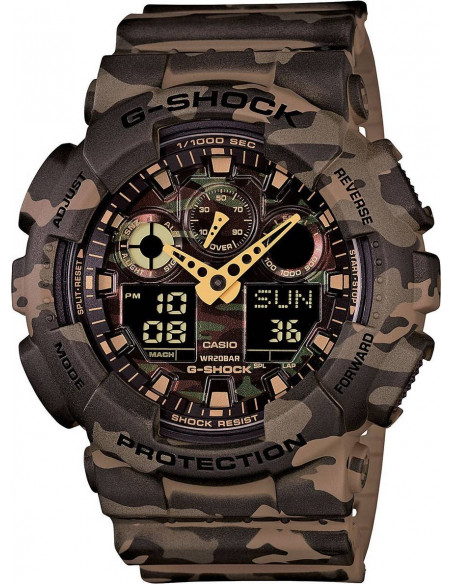 Chic Time | Montre Homme Casio G-Shock GA-100CM-5AER Marron  | Prix : 199,00€