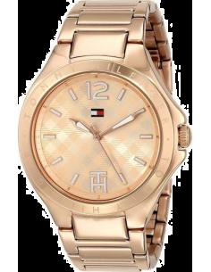 Chic Time | Montre Femme Tommy Hilfiger 1781384 Cadran or rose motifs carreaux  | Prix : 175,20€