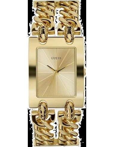 Chic Time | Montre Femme Guess Heavy Metal I90176L1 Bracelet à maillons dorés  | Prix : 199,00€