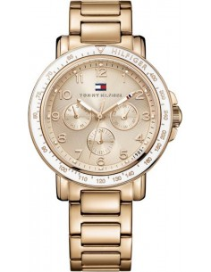 Chic Time | Montre Femme Tommy Hilfiger 1781513 Bracelet doré rose en acier inoxydable  | Prix : 189,00€