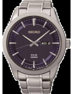 Chic Time | Montre Homme Seiko Solar SNE361P1 Bracelet Argenté En Acier Inoxydable  | Prix : 306,75€