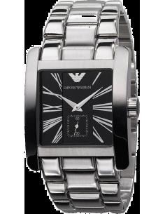 Chic Time | Montre Emporio Armani Homme AR0181 Bracelet Acier Fond Noir  | Prix : 375,00€