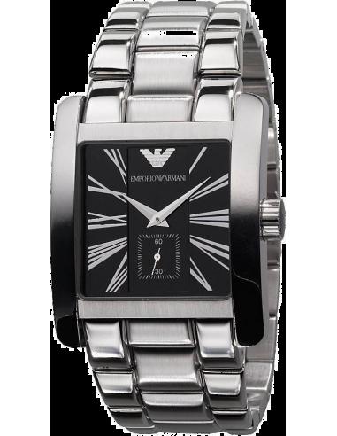 Chic Time | Montre Emporio Armani Homme AR0181 Bracelet Acier Fond Noir  | Prix : 248,00€
