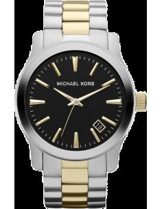 Chic Time | Montre Homme Michael Kors Runway MK7064 bracelet bicolore en acier tons or argent  | Prix : 229,00€