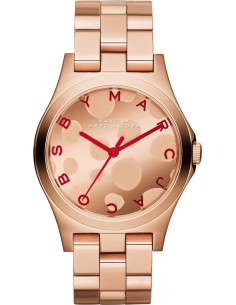Chic Time | Montre Femme Marc By Marc Jacobs Henry Glossy Pop MBM3268 motifs bulles or rose  | Prix : 192,49€