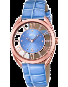 Chic Time | Montre Femme Lotus Trendy L18226/2 Bracelet bleu et boîtier teinte or rose  | Prix : 119,00€