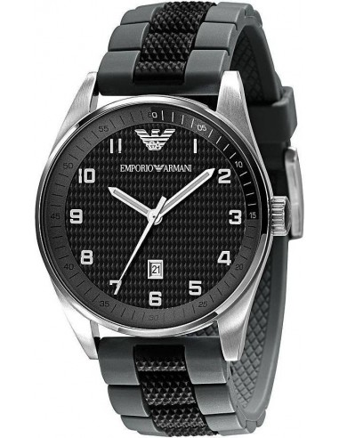 Chic Time | Montre Homme Emporio Armani AR5875 silicone noir  | Prix : 199,00€