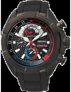 Chic Time | Montre Homme Seiko Velatura SPC149P1 Bracelet noir en acier et titane  | Prix : 599,00€