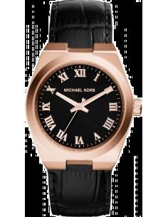 Chic Time | Montre Femme Michael Kors Channing MK2358 Bracelet noir en cuir  | Prix : 99,50€