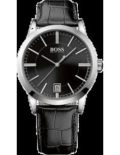 Chic Time | Montre Homme Hugo Boss 1513129 Bracelet aspect croco cuir couleur noire  | Prix : 228,65€