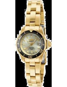 Chic Time | Montre Femme Invicta Pro Diver 14987 Dorée avec lunette noire  | Prix : 65,40€