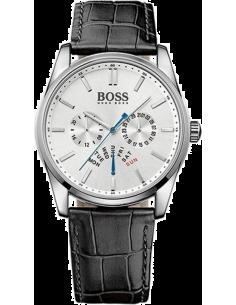 Chic Time | Montre Homme Hugo Boss 1513123 Bracelet couleur noire en cuir   | Prix : 279,65€