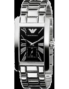 Chic Time | Montre Homme Emporio Armani Classique AR0156 Bracelet Argent et Fond Noir  | Prix : 207,20€