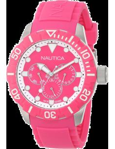 Chic Time | Montre Sport Nautica A13641G Bracelet gomme rose  | Prix : 69,50€
