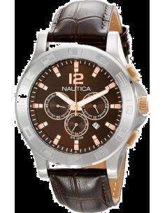 Chic Time | Montre Homme Nautica A22620G Marron  | Prix : 249,00€